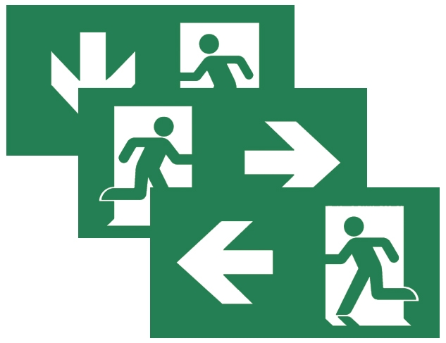 Pictograms For Emergency Exit Lights Teknoware
