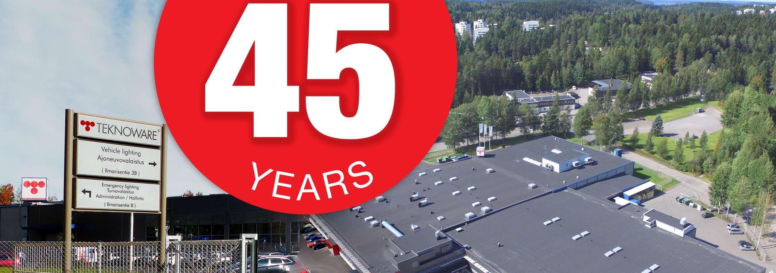 Teknoware 45 vuotta