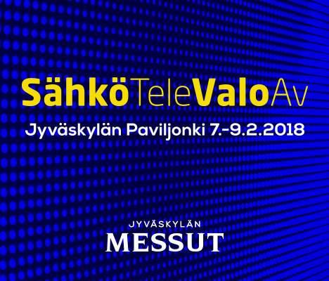 SähköTeleValoAV 2018, Jyväskylä 7.-9.2.2018 -banneri