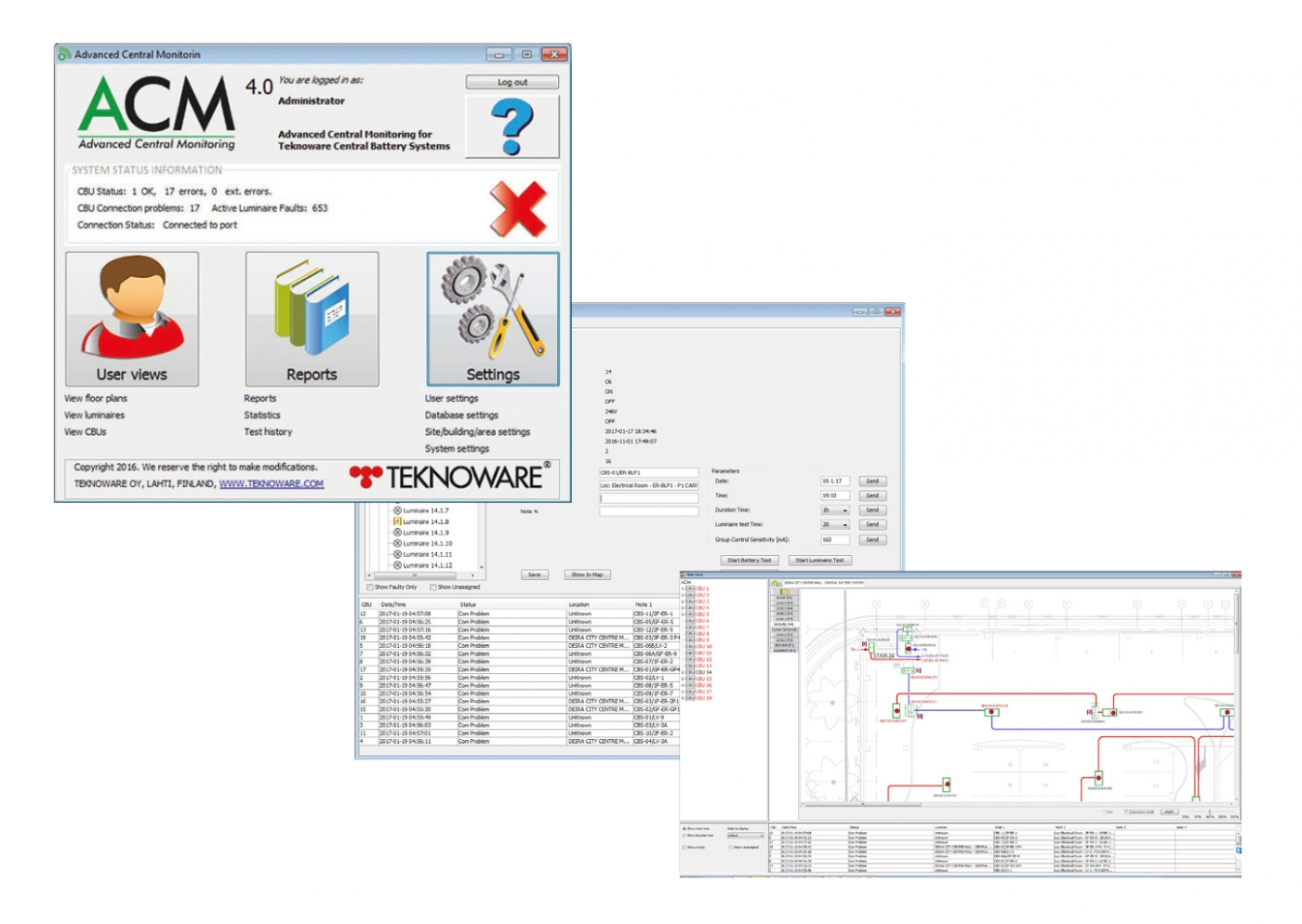 Acm Advanced Central Monitoring Software Teknoware Led Temperature Indicator Electronics Project