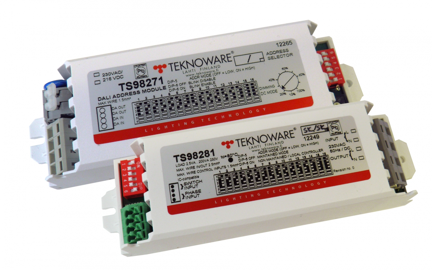 Address Modules for Central Battery Systems   Teknoware
