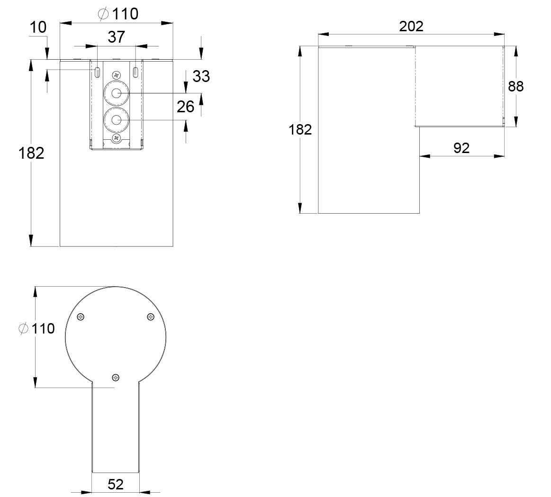Exit Sign Wiring Diagram 110 Or 220 Diagrams Schematics Msd 7530t Trispot Led Emergency Light Twt0951wk Teknoware 240 V 50 60 Hz Ac Dc
